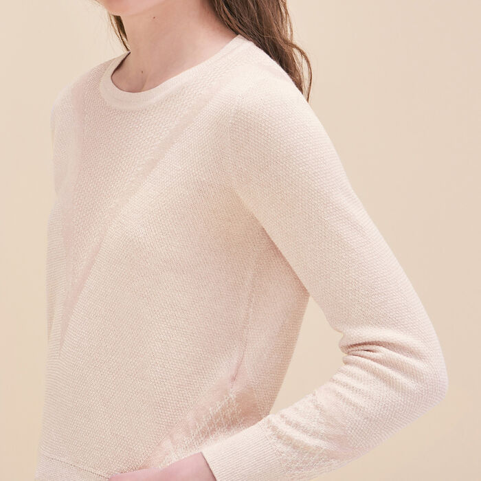 Fine knit jumper with lurex - Sweaters & Cardigans - MAJE