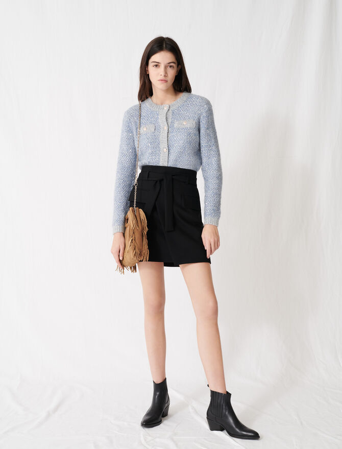 Wrap mini skirt - Skirts & Shorts - MAJE