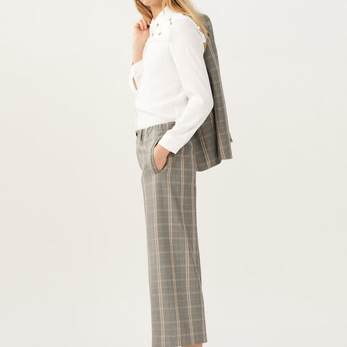 Wide-leg checked trousers - Pre-collection - MAJE