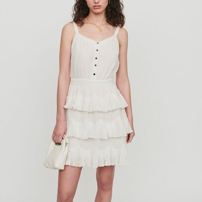 Ruffled dress with straps - See all - MAJE