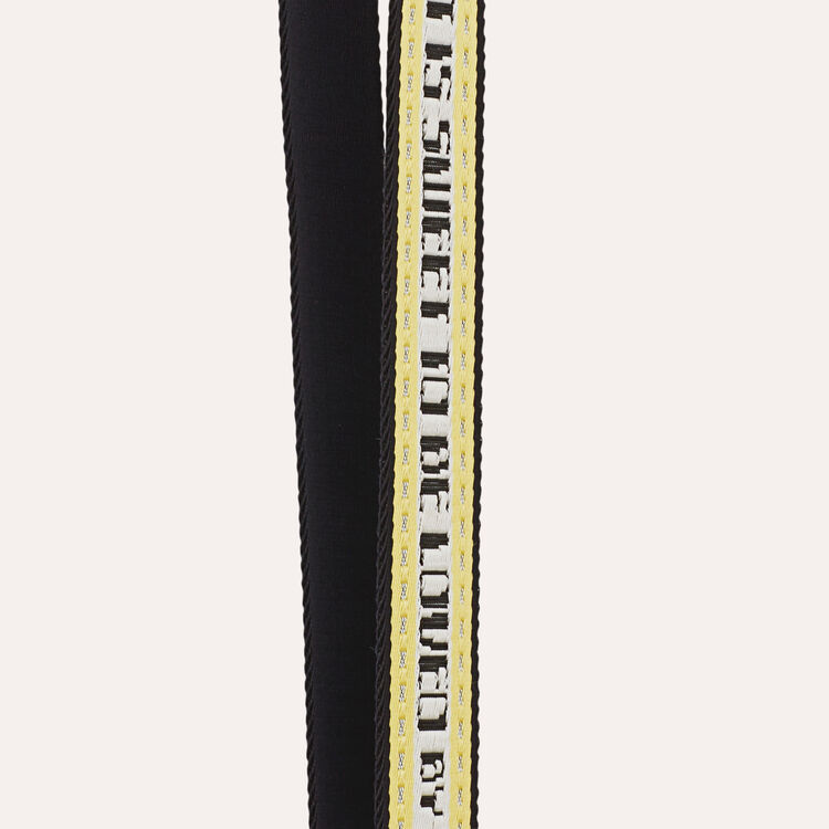 Strap in jacquard fabric : Straps color Yellow