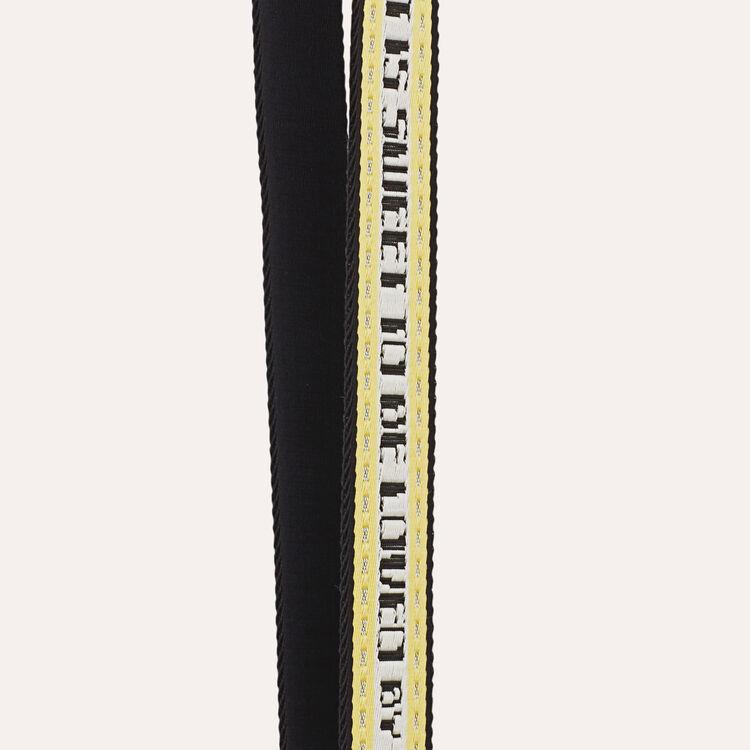 Strap in jacquard fabric : Straps color Yellow