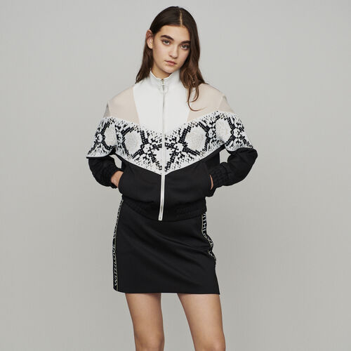 Zipped sweatshirt with python print band : Sweatshirts color PRINTED