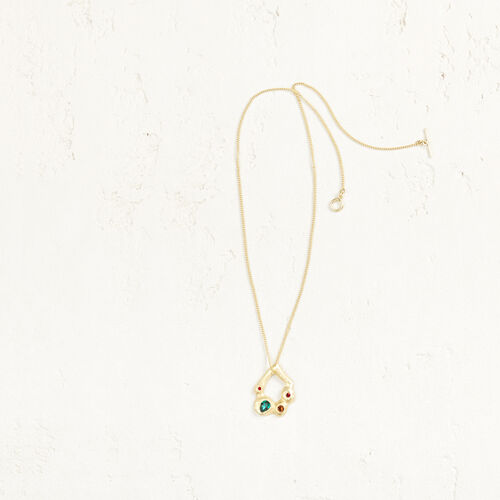 Necklace with small pendant : Accessories color Gold