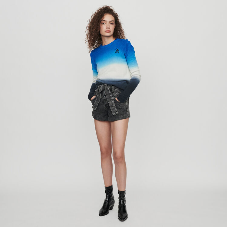Sweater in color gradient : Knitwear color AZURE BLUE