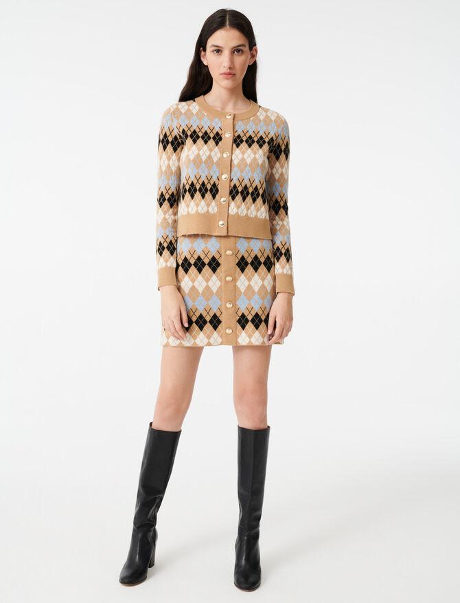 Short jacquard cardigan - Knitwear - MAJE