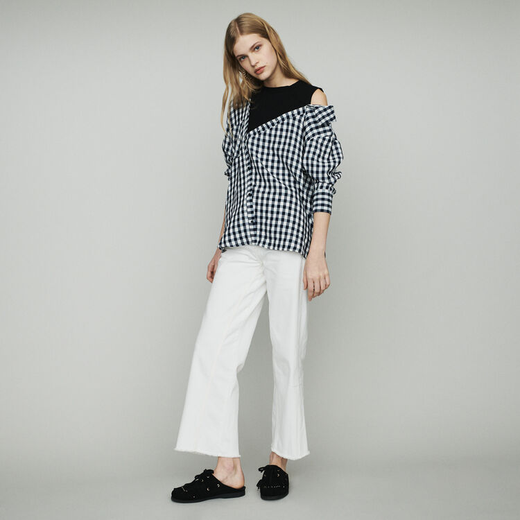 Trompe-l'œil shirt in  vichy : Tops & Shirts color CARREAUX