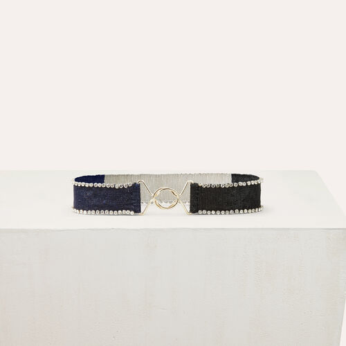 Bicolor pearled belt : Accessories color Multico