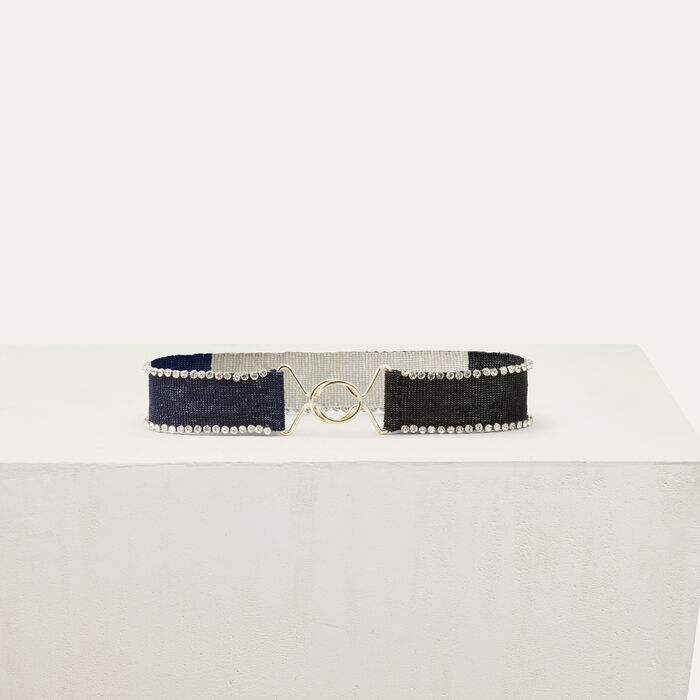 Beaded belt with glitz : Belts color Multico