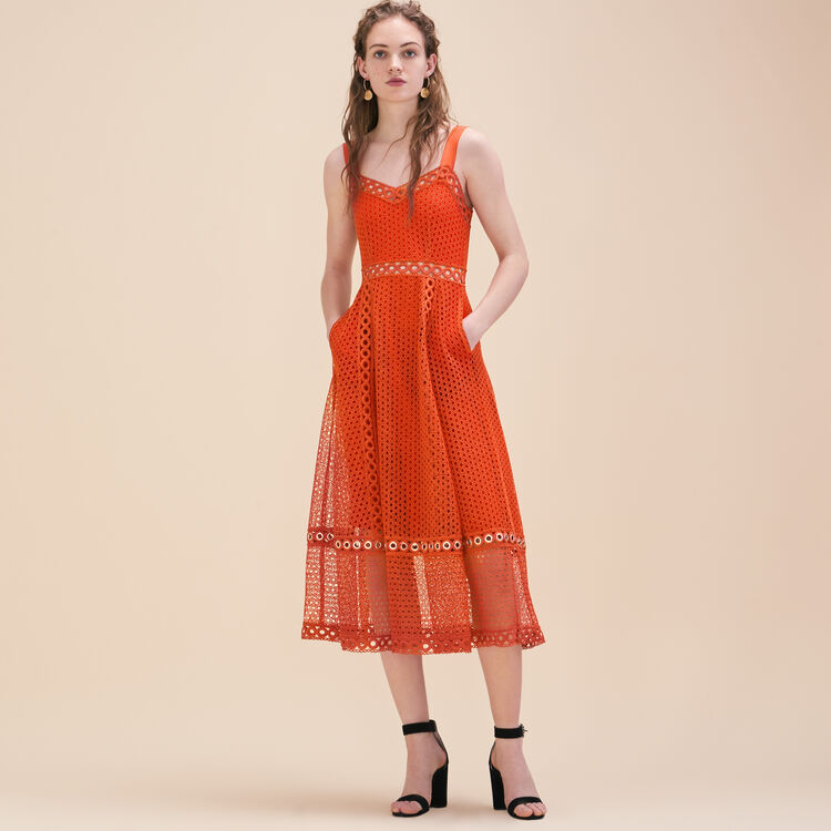 Long embroidered strappy dress - See all - MAJE