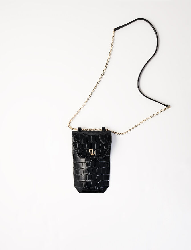 Crocodile-effect phone case -  - MAJE