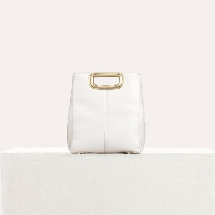 M Mini Skin bag in leather : Campaign SS19 color WHITE