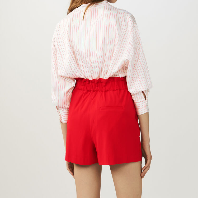 Short with tie belt : Skirts & Shorts color Red