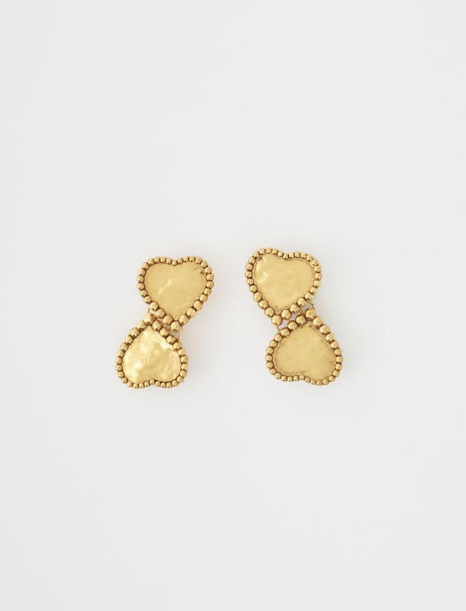 Gold-plated heart earrings -  - MAJE