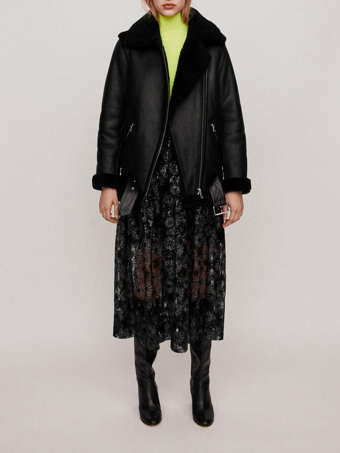 Leather jacket - SoldesFR_Manteaux_50 - MAJE