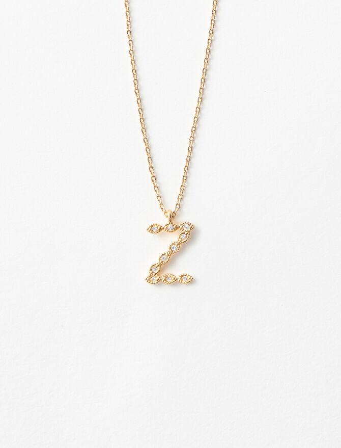Rhinestone Z necklace -  - MAJE