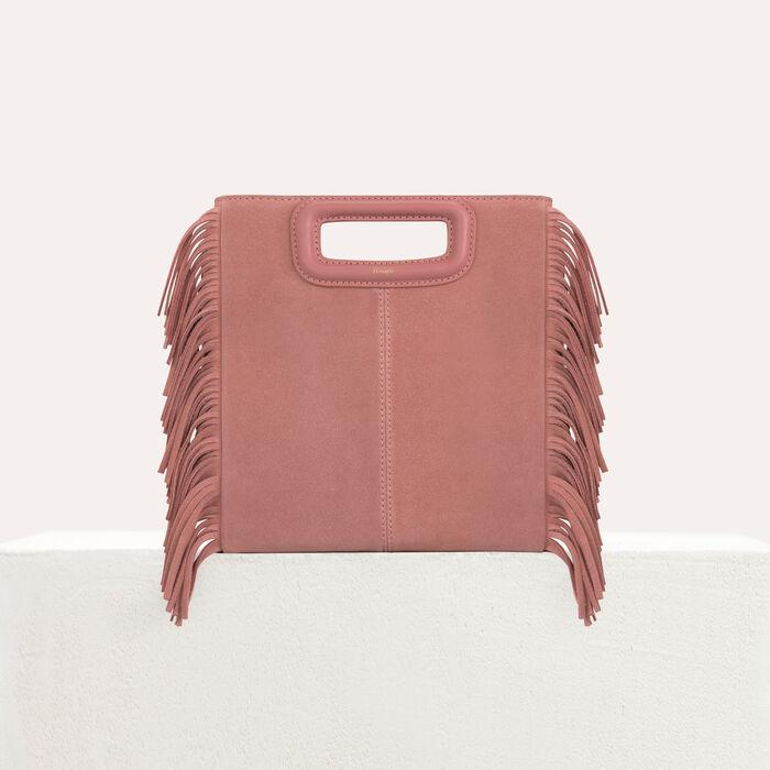 M bag with suede fringes : M bag color Pink
