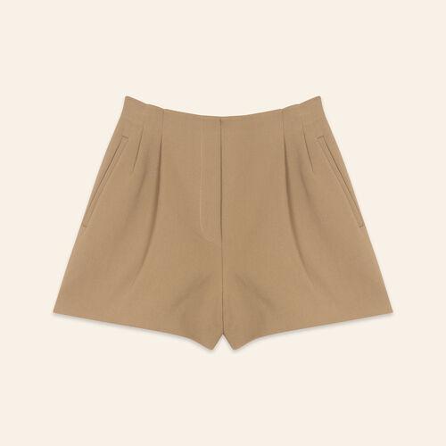 Cotton blend shorts : Skirts & Shorts color Camel