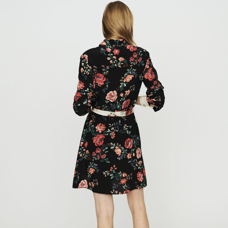 Floral print shirt-dress : Dresses color Printed