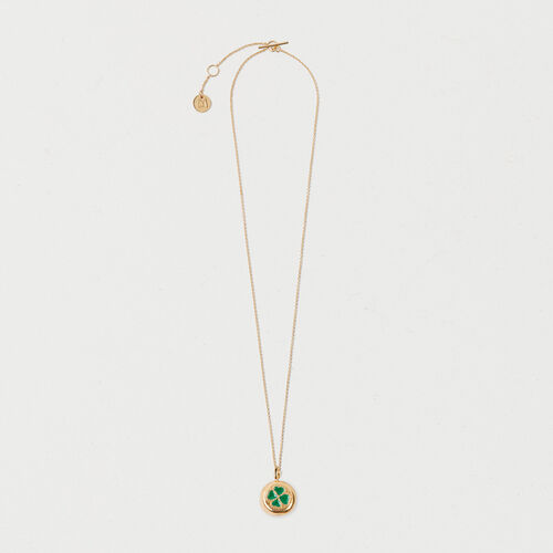 Four-leaf clover necklace : Summer collection color GOLD