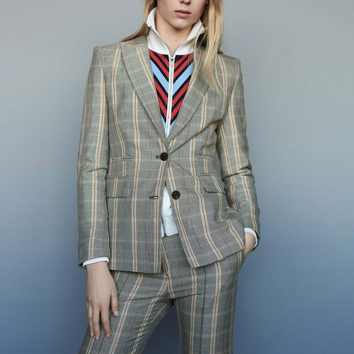 Checked jacket with shoulder pads : Blazers color CARREAUX