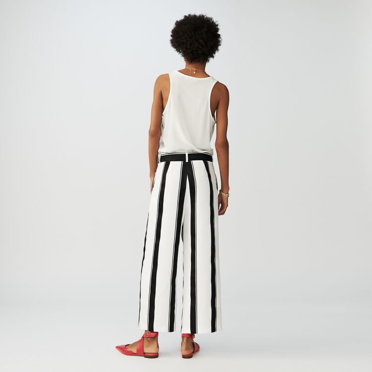 Oversized striped pants : Trousers color Stripe