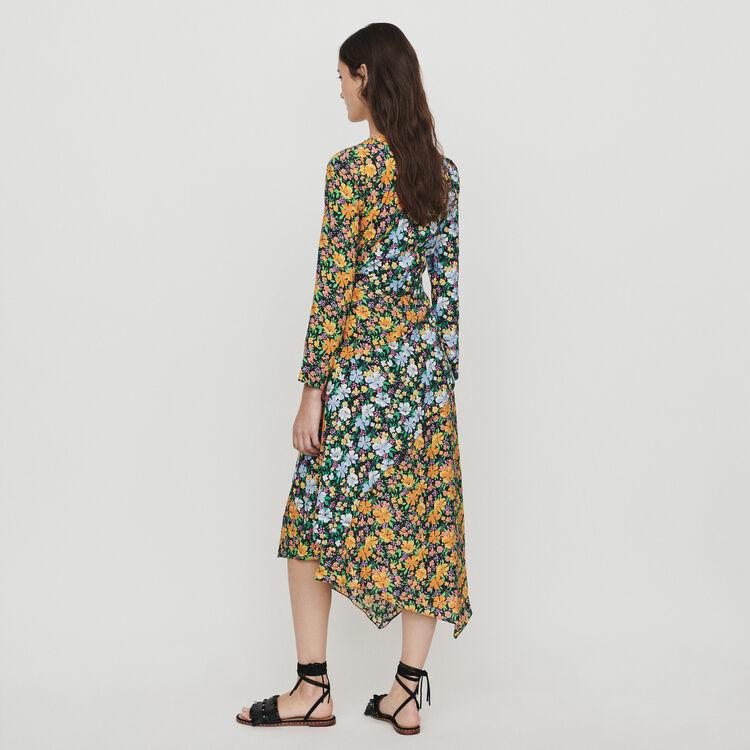 Long dress in floral print : Dresses color Printed