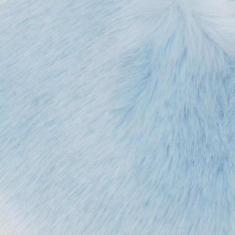 Wide faux fur collar scarf : Shawls & Ponchos color BLUE/SKY BLUE