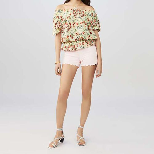 Silk printed top : Summer Collection color PRINTED