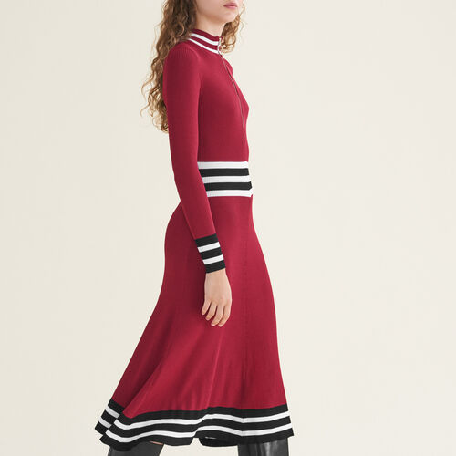Long rib-knit dress - Dresses - MAJE