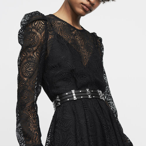 Lace skater dress : Ready to wear color Black 210
