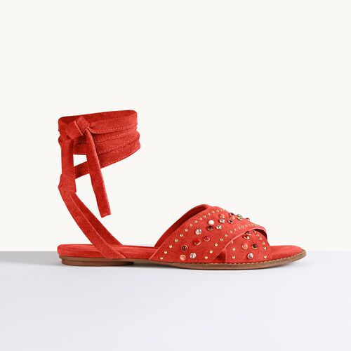Flat sandals with studs - Shoes - MAJE