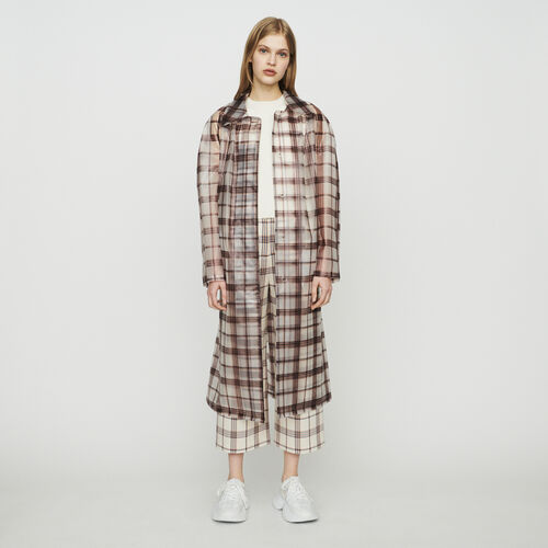 Transparent checkered windproof jacket : Coats & Jackets color CARREAUX