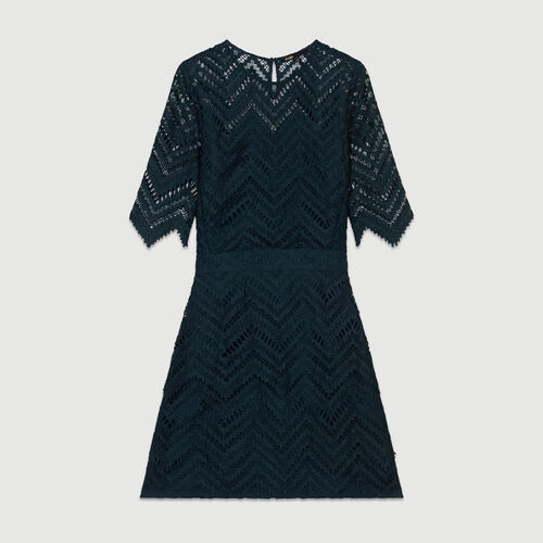 Straight lace dress : Dresses color Green