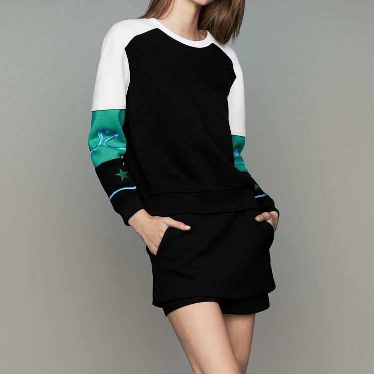 Multicolor Neoprene sweatshirt : New Collection color Multico