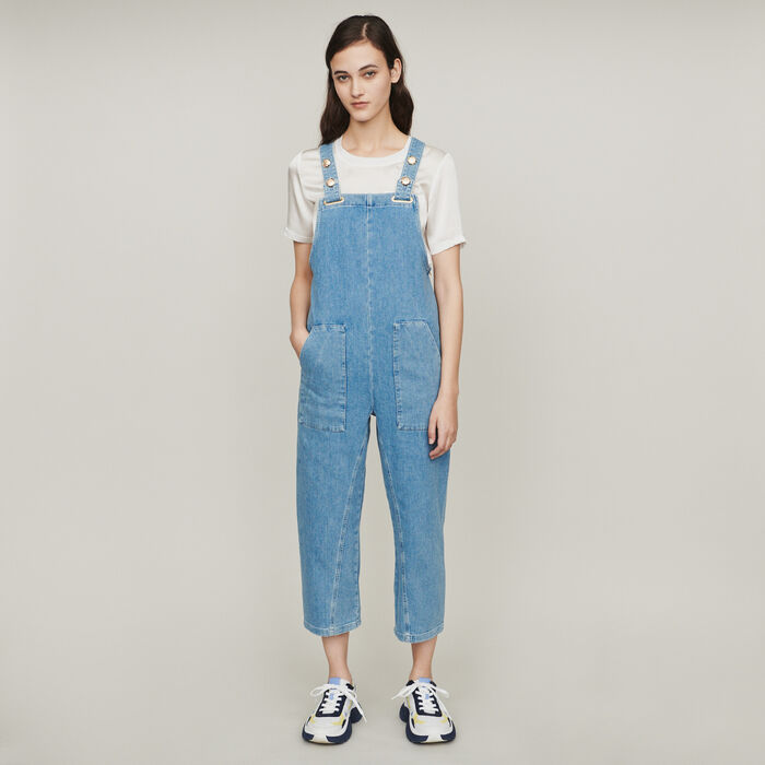 Denim jumpsuit : Trousers & Jeans color Denim