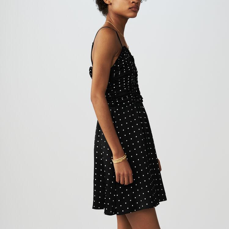 Spaghetti strap polka dot dress : Dresses color Black 210