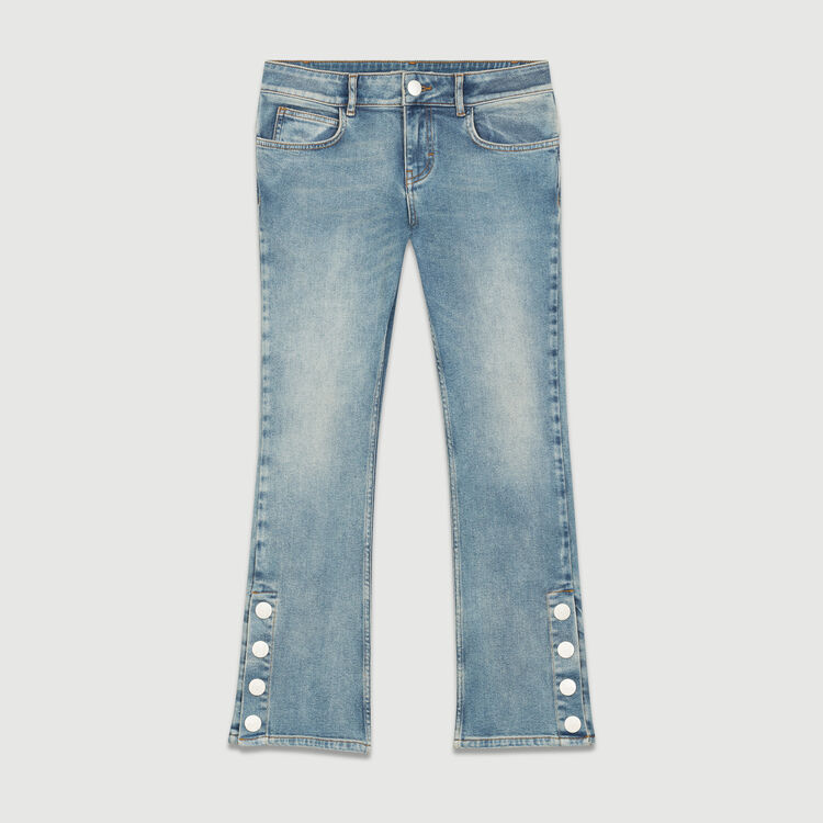 Flared 7 8 Denim Jeans Null Color