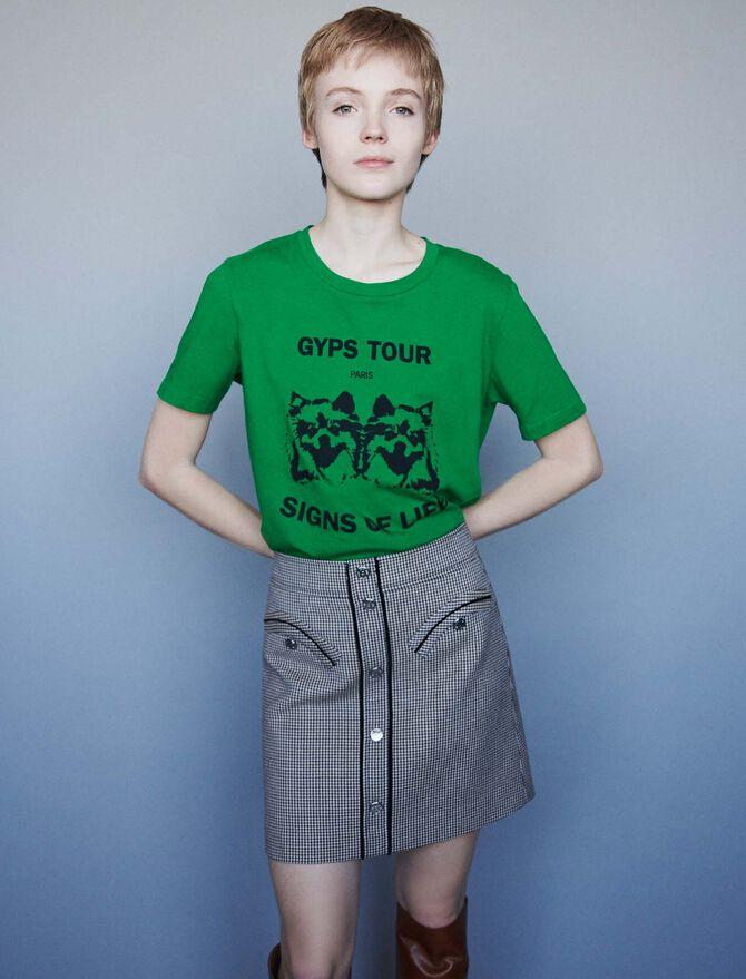 Silk screen printed t-shirt - T-Shirts - MAJE
