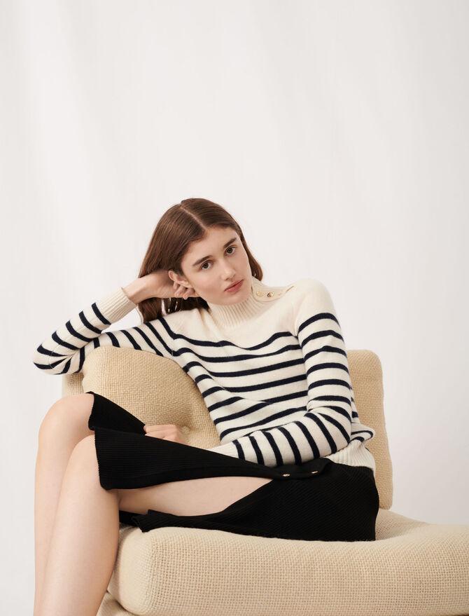 Cashmere sailor-style sweater - Knitwear - MAJE