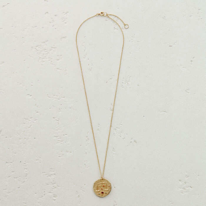 Libra zodiac sign necklace : Jewelry color GOLD