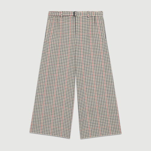 Plaid pants : Office girl color CARREAUX