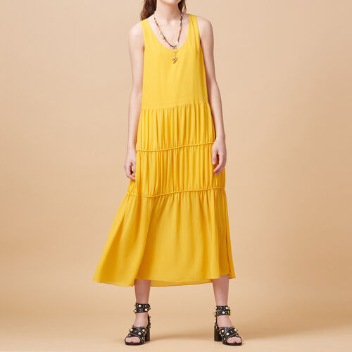 Long sleeveless dress : Dresses color Yellow