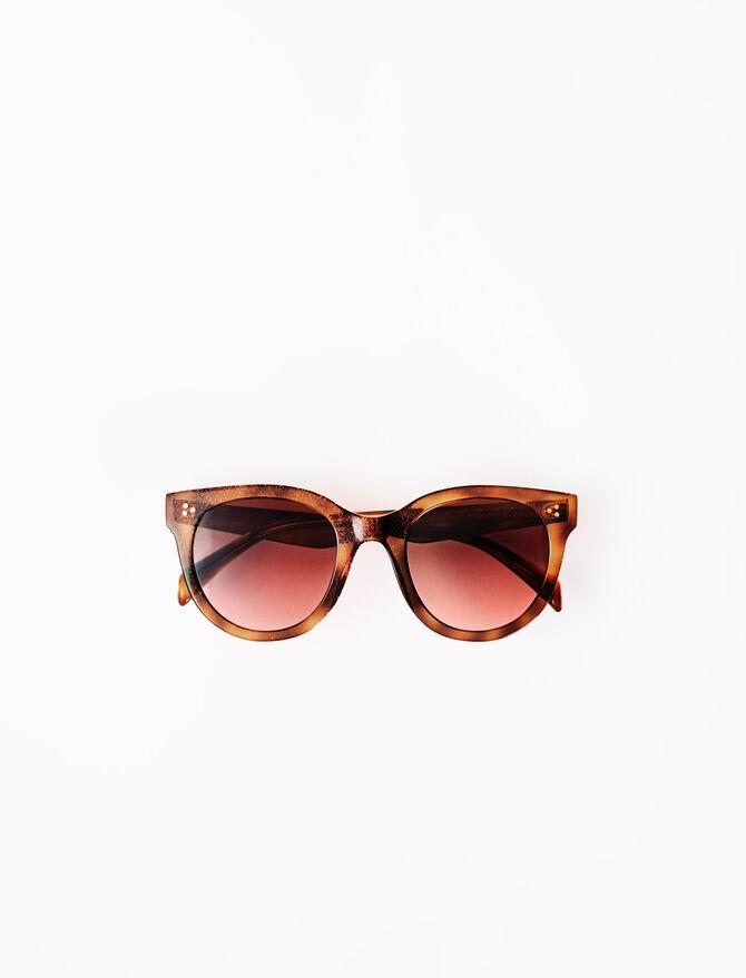 Round acetate sunglasses -  - MAJE