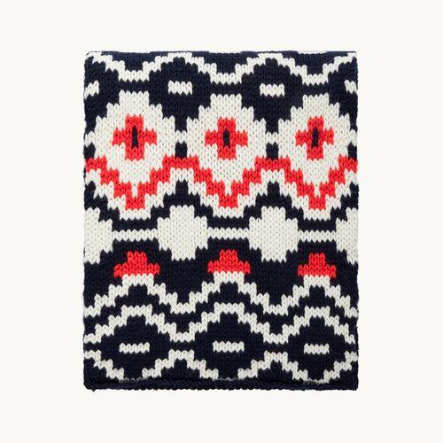 Jacquard knit scarf : Accessories color Jacquard