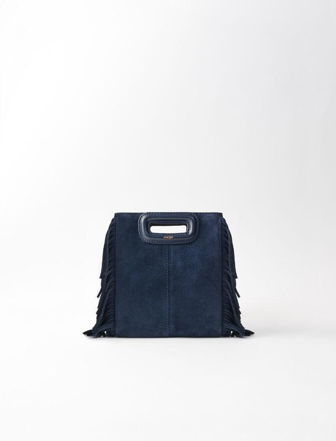 Mini suede M bag -  - MAJE