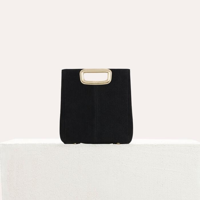 M Skin bag in suede : M Mini color Black 210