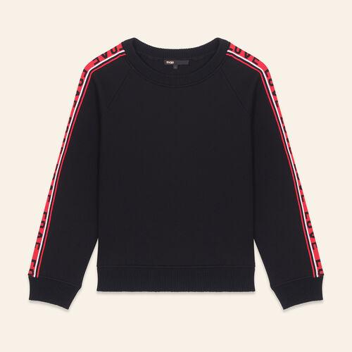 Neoprene sweatshirt with bands - Knitwear - MAJE
