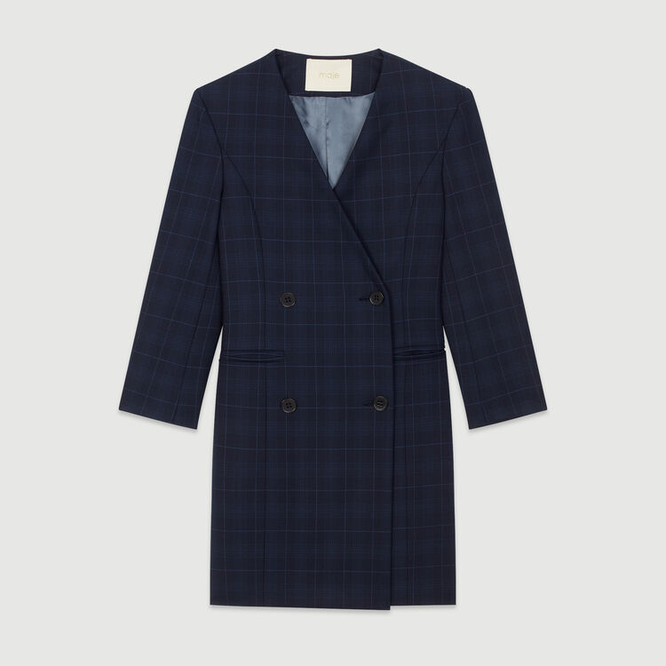 Suit dress in plaid : New in : Summer Collection color Navy