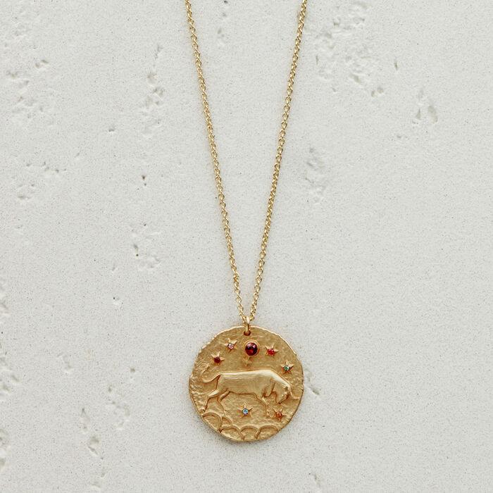 a1dd28bec04698 TAUREAU Taurus zodiac sign necklace - Jewelry - Maje.com